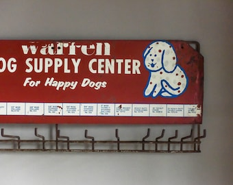 Vintage Metal Wall Rack, Wall Organizer, Coat Rack, Jewelry Display, Dog Supplies. Leash Holder