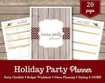 Holiday Party Planner / Christmas Party Planner / Dinner Party Planner / Party Planner / Christmas Organizer / Christmas Printable
