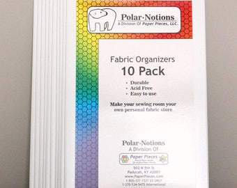 50 Pack Original Polar Notions Mini Bolt Fabric Organizers