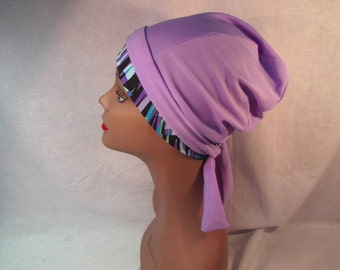 Purple hat and scaef multicolor band