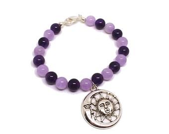 Amethyst Sun-Moon Bracelet