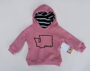 Pink Washington hoodie
