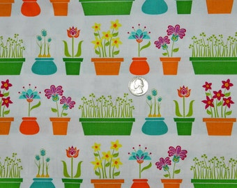 Flower Shop - Fabric By The Half Yard 18 inches x 44 inches