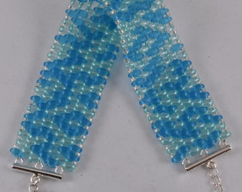 Beaded Bracelet In Ocean Blues