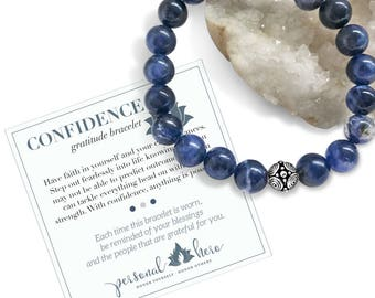 Confidence Inspirational Bracelet, Chakra Stone Bracelet, IVF Mindfulness Gift, College Graduation Gift For Her, Protection Bracelet For Her