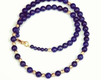 Lapis lazuli necklace, Lapis necklace, Egyptian jewelry, Blue necklace, Egyptian revival, Egyptian necklace, gemstone necklace, gift