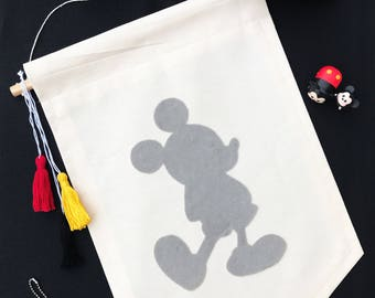 Mickey Silhouette Banner - Choose Your Own Colors! 12x18 inches