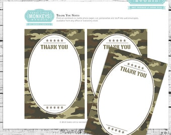Little Soldier Printable Thank You Notes - INSTANT DOWNLOAD