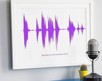 Ultrasound print etsy personalised your voice or song a3 sentimental valentines day gift soundwave negle Gallery