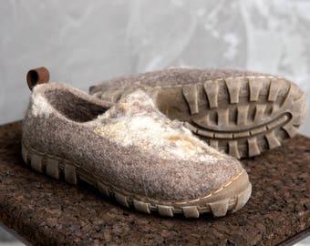 Wild handmade shoes - Handmade Winter shoes - felt shoes - men boots - woolen boots - Mens shoes - Wool boots for men - Short Ankle Boots