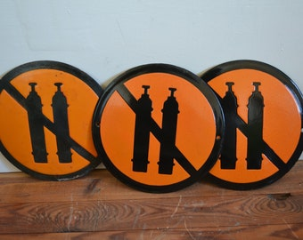 Vintage Industrial Enamel Sign