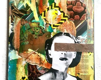The Complexities of Human Thought and Emotion - Surreal Collage - Contemporary Mixed Media - Original Mixed Media Collage - Unique Wall Art