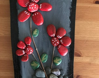 Stone pebble art