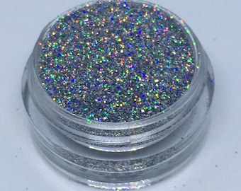 Silver Holographic Glitter 3g Pot Nails Craft Card Making Fine Loose Glitter UK Seller