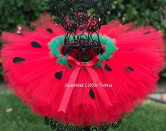 Strawberry Tutu/ Strawberry Dress/ Strawberry Costume/ Strawberry Birthday