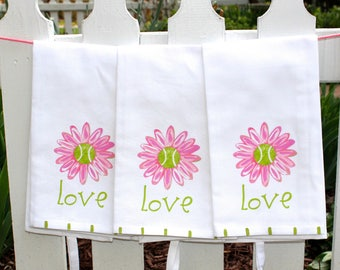 Tennis Love Kitchen Tea Towel Tennis Gift Hostess Gift