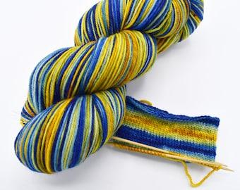 Very Starry Watercolor Stripes Yarn - Self-Striping Sock Yarn Made to Order