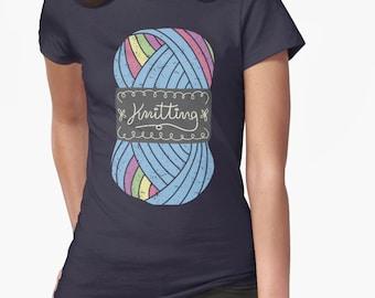 Knitting || knitter || crafts / Unisex Soft Tee / gift for knitter/ knit/ cute shirt /crochet/ needlework / knitting lover