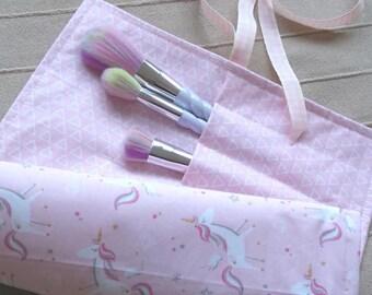 Unicorn Make-Up Brush Roll