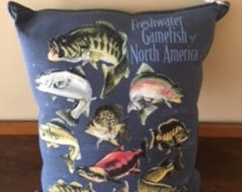 Freshwater Fish of North America Pillow