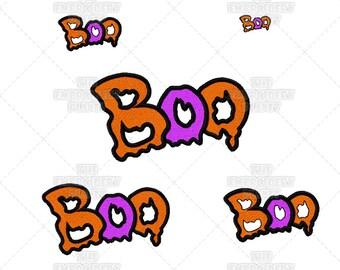 Boo Halloween Words Samhain Fun Slimy Holiday Seasonal Machine Embroidery Pattern Design
