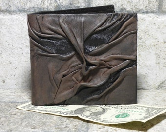 Necronomicon Evil Dead Leather Wallet Goth Black Brown Zombie Monster Face Horror Gamer Fantasy Fathers Day Gift 518