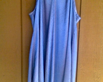 CUSTOM Slip Dress, Lightweight Jumper, Adjustable or Convertible Strap Trapeze Dress, Swing Dress with Straps
