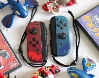 Nintendo Switch - Pokemon Ruby & Sapphire ~ Limited Edition ~ Custom Joy-cons Groudon and Kyogre