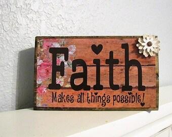 Wood Blocks - Faith Blocks - Religious Blocks - Vinyl Letter Blocks - Rustic Wood Blocks - Holiday Blocks