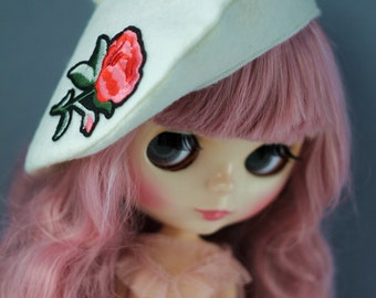 Beret for Blythe hat doll clothes high fashion outfit