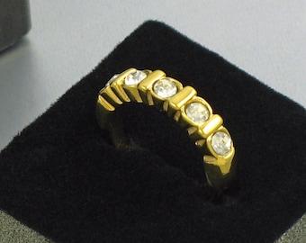1992 Vintage AVON 'Eternal' Ring w Original Box. Size 6 Ring. Rhinestone Ring. Avon Eternity Ring. Vintage Avon Jewelry. Vintage Avon Ring