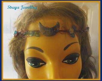 Fall woodland tiara circlet pagan fairy wiccan