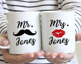 Personalized Mug Set, Mr and Mrs Mugs, Mr. and Mrs. Coffee Mugs, Mr and Mrs Coffee Mugs, Mr Mrs Coffee Mugs, Couples Mug Set