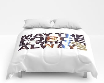Star Wars Comforter, May the Force Be With You Always Comforter, Obiwan Comforter, Jedi Blanket, Obiwan Kenobi Blanket, Star Wars Coverlet