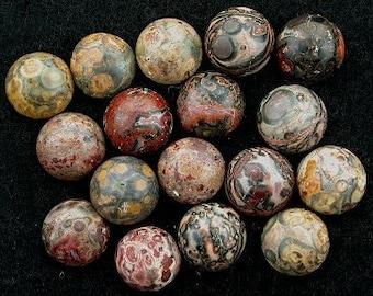 4 - 12mm round leopardskin jasper cabochon gem gemstone