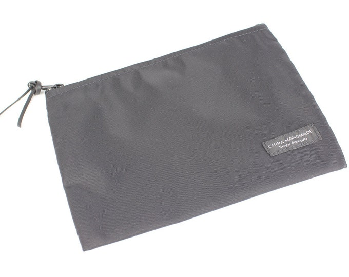 8x6 inch Black basic nylon zipper pouch -- use for travel, snacks, cosmetics, a tool bag, photo-video gear, and more!