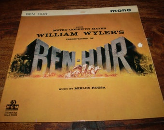 Ben Hur 1959 Original Soundtrack Vinyl EP, 7 inch Extended Play Record MGM EP 763