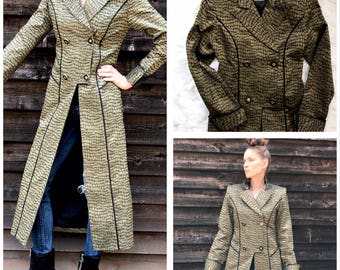 Vintage Lily & Taylor Couture Jacket / Long Blazer