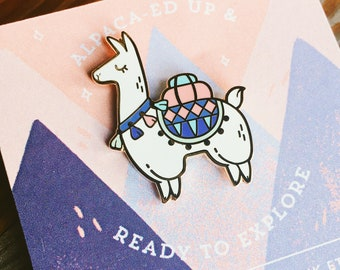 Alpaca Adventures // Hard Enamel Lapel Pin