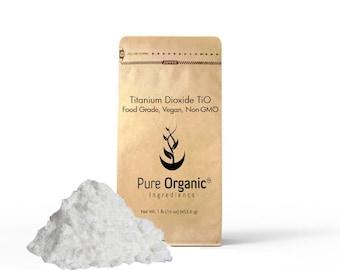 Titanium Dioxide TiO2, (16 oz (1 lb) Non-Nano, Food grade, Vegan, Non-GMO