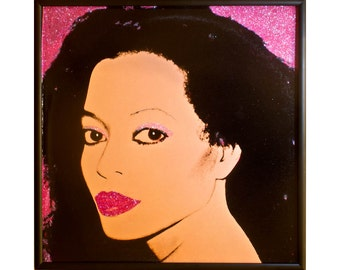Glittered Diana Ross Warhol Album