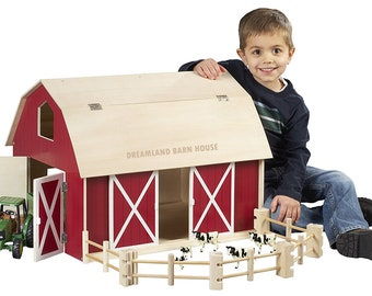 Wooden barn toy for children ahşap ahır çiflik oyuncak