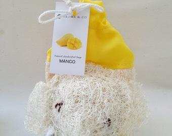 Exfoliating Elephant Loofahs Soap, Scrub Mango Soap, Elephant Soap, All Natural Soap, Handmade Soap, Gift for Children