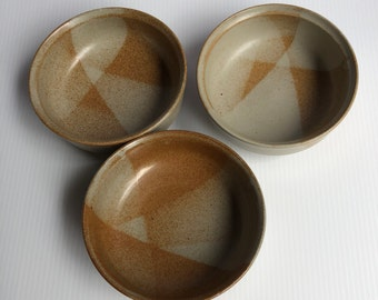 Iron Mountain stoneware, White Top bowls, cereal bowl, ceramic bowl, Appalachian pottery, handmade pottery, vintage pottery