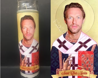Chris Martin Coldplay Devotional Prayer Saint Candle