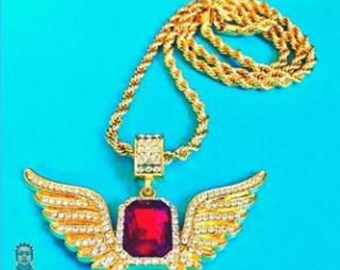 Raphael... Angel Wings W/ Ruby Charm (Closeout sale 50% OFF EVERYTHING! Use Code Jewels50)