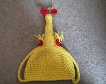 Crochet Blonde Wig---Holiday--- Christmass Costume---Winter Hat