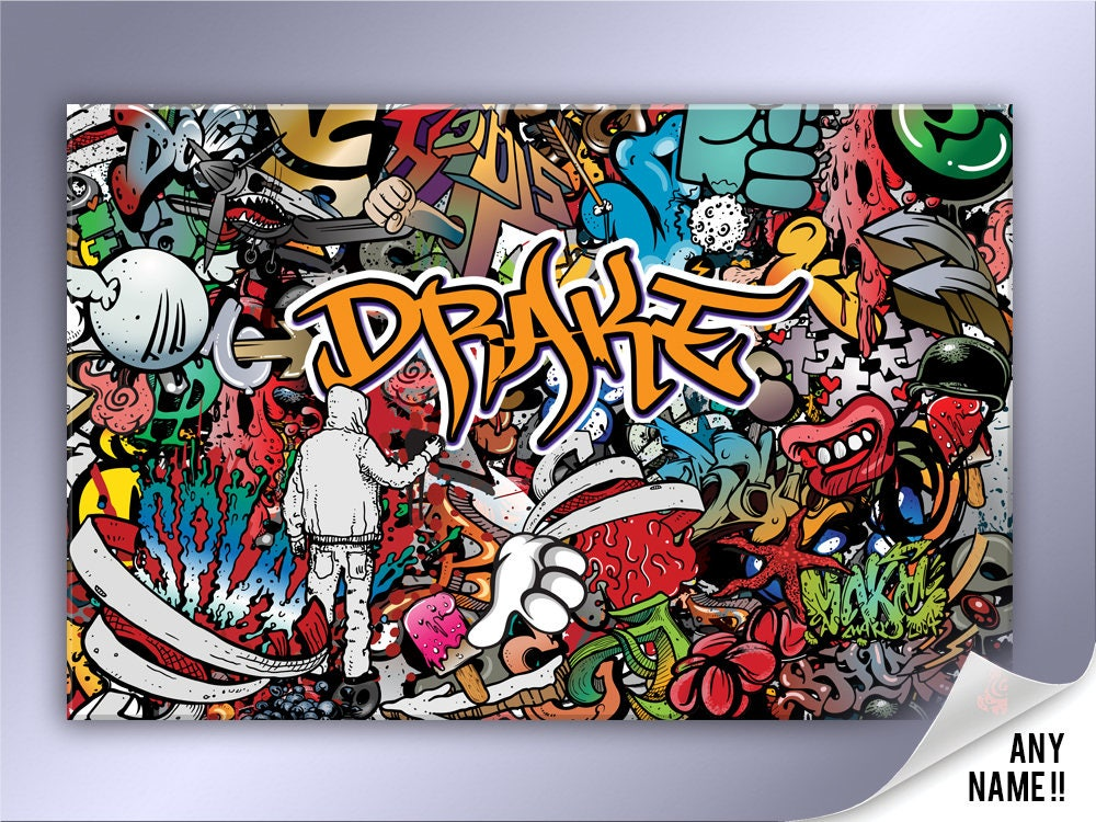 toile abstraite graffiti personnalis. Black Bedroom Furniture Sets. Home Design Ideas