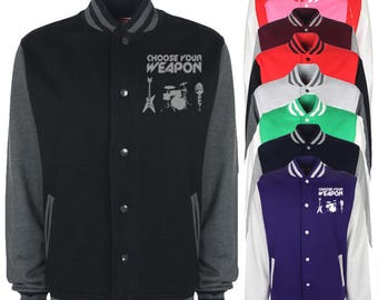 Choose Your Weapon Musical Instruments Varsity Jacket
