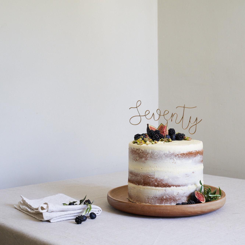 Script 70 Cake Topper, Seventy Cake Topper, 70th Birthday Topper ...